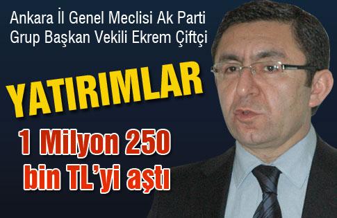 Ankara İl Genel Meclisi AK Parti Grup Başkan Vekili Çiftçi Açıklaması