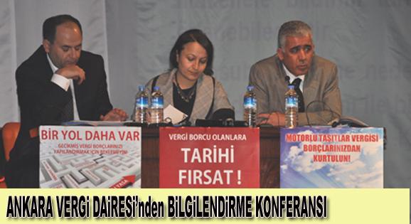 Ankara Vergi Dairesinden Bilgilendirme Konferansı