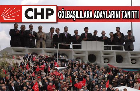 CHP Gölbaşına Milletvekili Adaylarını Tanıttı