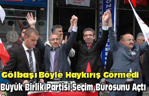 Büyük birlik partisi seçim bürosunun açılışını yaptı.