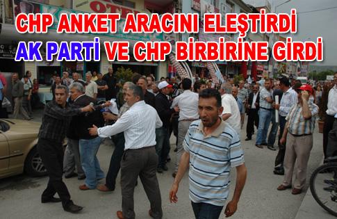 CHP ve AK Parti bir birine girdi.