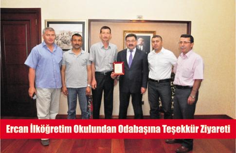 Ercan İlk Öğretim Okulundan Odabaşına Teşekkür Ziyaret