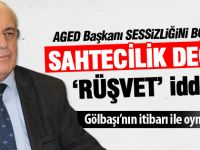 AGED Başkanı Servet Çimen: 'Sahtecilik' değil, 'Rüşvet'