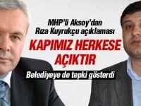 MHP'li Aksoy'dan Rıza Kuyrukçu açıklaması