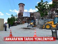 Ankara Kalesi'nde meydan çalışmaları