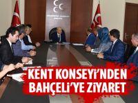 Kent konseyinden Bahçeli'ye ziyaret