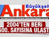"""""""Büyükşehir Ankara Dergisi"""", 600 sayısına ulaştı."""