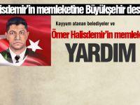 Büyükşehir Belediyesi'nden Halisdemir'in memleketine yardım