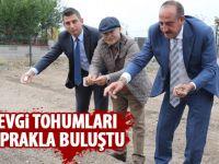 Başkan Duruay tohum ekti