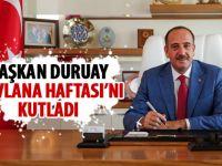 Başkan Duruay mesaj yayınladı