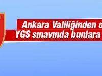 Ankara Valiliğinden YGS için basın duyurusu