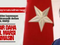 Başkan Duruay, İstiklal Marşı'nın Kabul edilmesi ile ilgili mesaj yayınladı