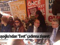 "CHP'li Kuşoğlu'ndan ""evet"" çadırına ziyaret"