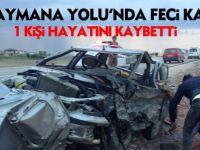 Haymana Yolu'nda kaza:1 ölü, 4 yaralı