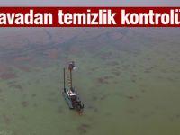 Mogan Gölü çalışmalarına havadan kontrol