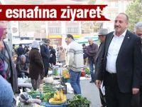 BAŞKAN DURUAY, PAZAR ESNAFINI ZİYARET ETTİ