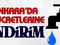 Ankara'da su ücretlerinde indirim