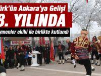 Atatürk'ün Ankara'ya gelişinin 98. yıldönümü kutlandı