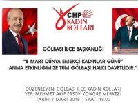 CHP'den KADIN'lara özel program