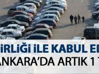 Ankara'da otoparklar 1 TL'ye indi