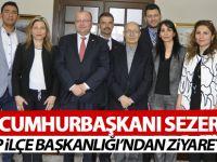 10. Cumhurbaşkanı Sezer'e ziyaret