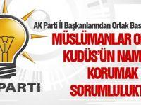 Ak Parti İl Başkanlarından ortak basın açıklaması