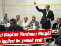 CHP Genel Başkan Yardımcı Tekin Bingöl bir fabrikada işçilerle bir araya geldi