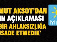 Aksoy'dan afiş tepkisi