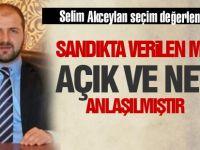 Selim Akceylan'dan seçim değerlendirmesi