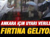 Ankara Valiliğinden 'fırtına' uyarısı