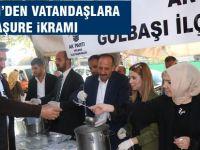 AK Parti Gölbaşı İlçe Teşkilatı aşure dağıttı