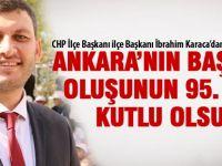 CHP İlçe Başkanı İbrahim Karaca'dan kutlama mesajı