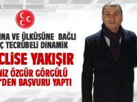 Deniz Özgür Görgülü MHP'den başvuru yaptı