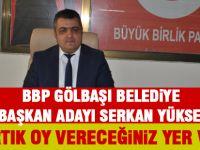 Büyük Birlik Partisi adayını açıkladı