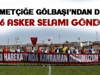 Gölbaşı Belediyespor'da Mehmetçiğe destek
