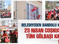 Gölbaşı Belediyesi'nden bandolu kutlama