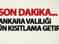 Ankara Valiliği'nden son dakika açıklaması