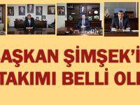Başkan Şimşek'in ekibi ve görev yerleri belli oldu