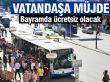 Bayram EGo otobüsleri ücretsiz